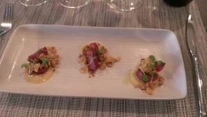 Wine Braised Turnips, Dates, Parmesan, Hazelnuts